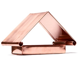 Flythrough Copper Bird Feeder made in the Blue Ridge Mountains - at Kaufmann Mercantile.