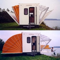 'De Markies' (The Awning) was an entry in the 1985 Temporary Living competition, conceived as a mobile home.