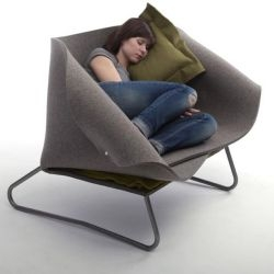 British designer Charlotte Kingsnorth has created the 'Felt Up' chair.
