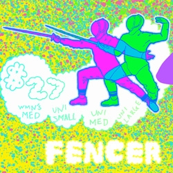 Handsome Sausage has some fun 80's looking fencer tees