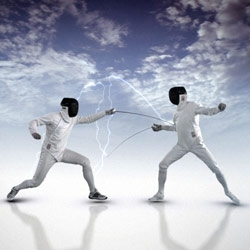 Germany's Metaphrenie creates award-winning designs for Al Jazeera Sports ~ love the electric look of the fencing in the GentlemenSports.mov