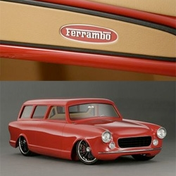 Riddler Award Winning 1960 Ferrambo Wagon. V8 Power Ferrari Rambler Wagon. Take a Rambler from 1960 and put all the goodies of a 2002 Ferrari 360 Modena in it. Amazing detailing!
