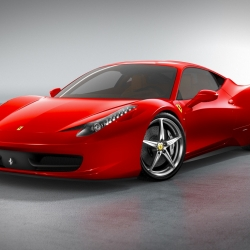 This is the upcoming 2010 Ferrari 458 Italia. Gorgeous design, 570 hp engine and the fastest production Ferrari ever with a top speed of 202 mph. And it gets 17.1 mpg! How's that for a supercar?