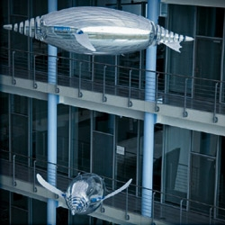 """With the AirPenguins, the engineers from Festo have created artificial penguins and have taught them """"autonomous flight in the sea of air"""". On display at London's Southbank Centre's summer science festival until July 4th."""