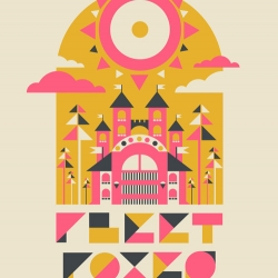 Fleet Foxes poster for Sasquatch Music Festival in Quincy, WA - by the Silent Giants