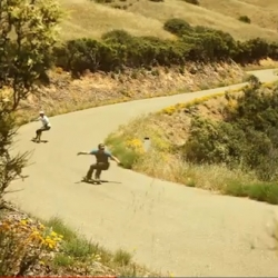 Longboarding: French Fries and Dogs Eyes. Longboarders Jackson Shapiera and Maxim Garant join together and burn urethane down a beautiful hill.