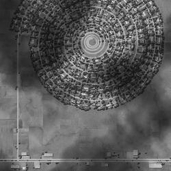 Ross Racine makes amazing digital drawings and renderings of fictional suburban neighborhoods.