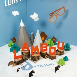 Poster by Figurez-vous for Lambou Opticien - Paper art, amazing conception - Collaboration of Figurez-vous and The Wizard. Have a look of the making of!