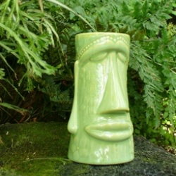 the Moai Tai tiki mug from 'I Lava Tiki' a new collection by artist Carolyn Kopecky. [Ed. Note: stacking tiki mugs are brilliant!]