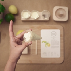 The Icecream Parlour by Central Saint Martins student Ploenpit Nittaramorn is a back-to-basics process for making ice cream, which seeks to question why we rely so much on machine-made produce.