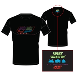 To celebrate the 30th anniversary of arcade classic Space Invaders, 55DSL and original game developer Taito is releasing this limited edition t-shirt and a special online teaser version of their new 2.0 Space Invaders.