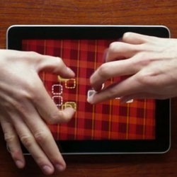 Fingle is a cooperative two-player iPad® game about the thrills of touching each other on a multi-touch device. Explore the intimate touch of each others fingers with Fingle's two-player puzzles.