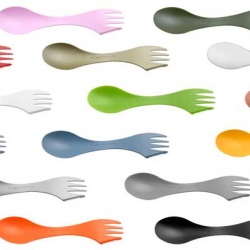 The Spork is a knife, spoon and fork combined in a single, one-piece utensil. Designed by Scandinavian designer Joachim Nordwall (for Light My Fire), the Spork is a simple elegant design that is practical and almost sexy.