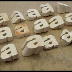 An amazing step by step explanation on creating three dimensional ceramic letter forms by artist and designer Lestaret / Chris Skinner.