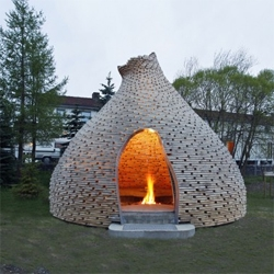 Norway has to be the only place where you can find a fireplace this cool... in a kindergarten! Designed by Haugen/Zohar Arkitekter.