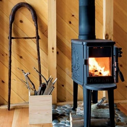 Cast iron wood stoves by Danish company Morso are made of 98 percent recycled materials and meet the strictest of environmental standards. They are also beautiful.