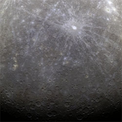 NASA has just released the first close up pictures of Mercury taken by the Messenger spacecraft.