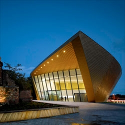 Firstsite visual arts centre by Rafael Viñoly Architects in Colchester, England.