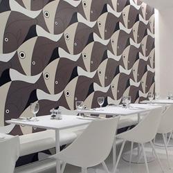 Pierluigi Piu ~ awesome Escher-esque fish wallpaper