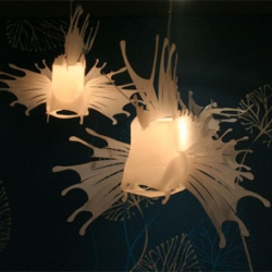 Designed by Melbourne-based Alex Earl, the lionfish pendant light is a unique shade emitting a luminescence from the intriguing form of a deep-sea creature.