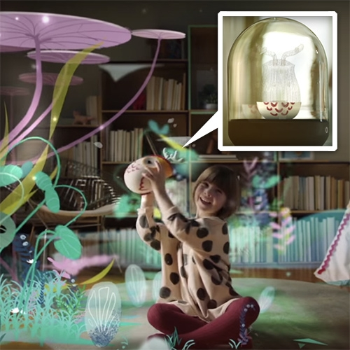 """The Future of Parenting"" from Fisher Price. A beautiful look into a possible future (and the thinking behind it all) - lots of holograms, everything becoming a screen, soft 3D printing, felt and bent plywood."