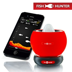 Fish Hunter ~ Military Grade Portable Smartphone Fishfinding Sonar and app. Also cute logo!