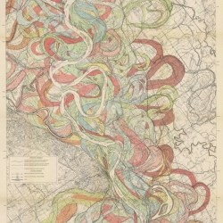 Radical Cartography by Harold Fisk, 1944. Tracing the Mississippi.