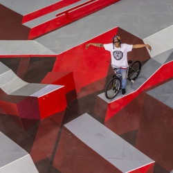 REDBULL 'Fixed Perspective' - Fixed gear rider Josh Boothby rides into an alternate dimension, where his fixed gear skills are put to the test on a highly technical 3D bike course.