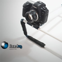 Fixed Rig, a rig for DSLR cameras that has been engineered by indie film-makers with no parts to assemble, so no more shaky hand-held footage. Designed and manufactured in London.