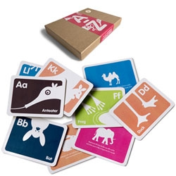Bob's Your Uncle has the cutest flash cards - A-Z Animal Flashcard Set with illustrations by Mark Fisher