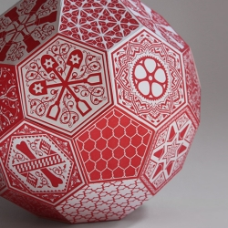 New letterpress origami soccer ball print by pattern nerd Dan Funderburgh !