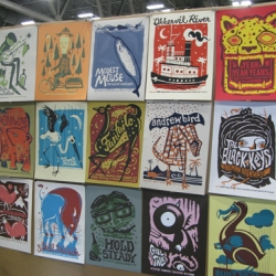 Fans of printed matter know that you don't go to SXSW for the music, you go for the Flatstock poster convention! He's a bunch of pics fresh from the ATX Conference Center.