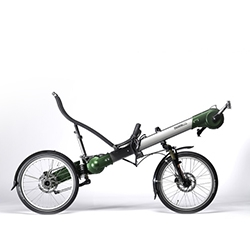 The GreenMachine, from Flevobike, for the recumbent rider.