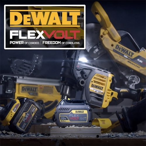 DeWalt FlexVolt System - Power of Corded. Freedom of Cordless! A look at their new system and product videos! So much power tool lust, wishing we had some of these while working on the NOTCOT Project House right now!