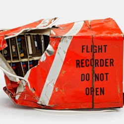 Jeffrey Milstein's Flight Recorder Do Not Open collection, captures the hidden beauty of the indestructible black boxes of air travel.