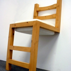 "a ""flip chair"" made from two tops of chairs - by john caswell design"