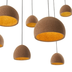 The Float Pendant by Benjamin Hubert and & Tradition. Made from recycled cork.