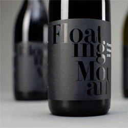 Floating Mountain wine labels from Concrete Creative.