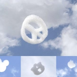 Flogos | New form of alternative media, using artificial clouds to disclose logos.