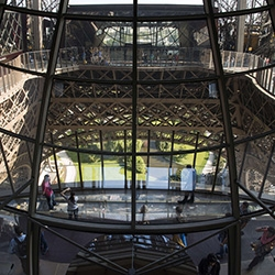 The Eiffel Tower gets a new glass first floor - nearly 200 feet above ground. Quite the $37.5 million update.