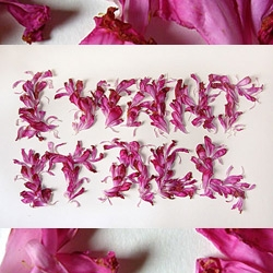Flower typography by Marian Bantjes