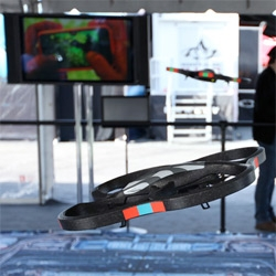 AR.Drone Parrot at CES ~ they have fun outdoor spaces this year, and these iphone/ipad controlled quadricopters even allow you to play AR shooter games now!