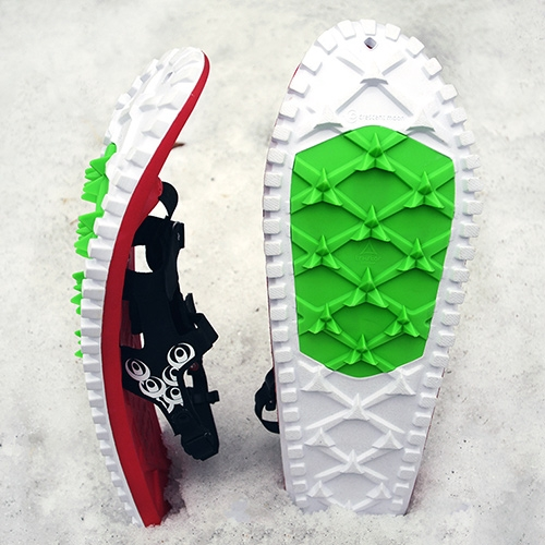GearJunkie takes a first look at Crescent moon EVA Foam Snowshoes - super light, rocker-shaped, and apparently responds more like a running shoe than a traditional showshoe.
