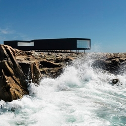 Fogo Island Studio by Saunders Architecture off Newfoundland.