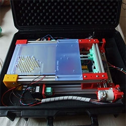 FoldaRap ~ the 3D printer you can fold/pack flat into a briefcase!