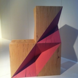 A set of folded cubes by designer Damien Hamon.
