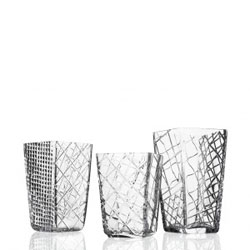 Folkform's new pieces, industrial intervention crystal glass.