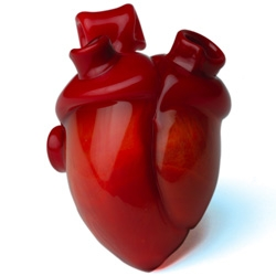 A true Heart made of  Murano Glass by French designer Melanie Fontaine, one of the winner of the competition.