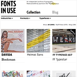 Fonts In Use - a collection of examples showing fonts in use!