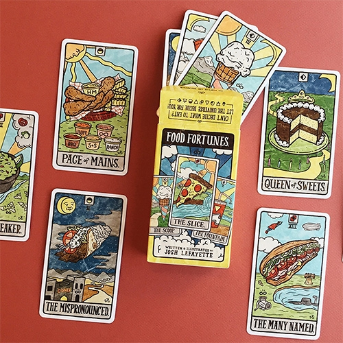 Food Fortunes - a foodie twist on tarot cards by Josh Lafayette.